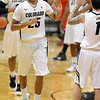 "Spencer Dinwiddie (25) of CU, goes to the bench after hitting a three<br /> during the first half of the December 31, 2001 game in Boulder.<br /> For more photos of the game, go to  <a href=""http://www.dailycamera.com"">http://www.dailycamera.com</a>.<br /> December 31, 2011 / Cliff Grassmick"