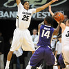 "Spencer Dinwiddie  of CU plays D on Toney Wroten of Washington<br /> during the first half of the January 5, 2012 game in Boulder.<br /> For more photos of the game, go to  <a href=""http://www.dailycamera.com"">http://www.dailycamera.com</a>.<br /> January 5, 2012 / Cliff Grassmick"