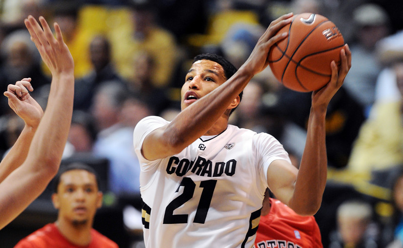 "Andre Roberson of CU goes to the basket against Hartford during the second half of the December 29, 2012 game in Boulder.<br /> For more photos of the game, go to  <a href=""http://www.dailycamera.com"">http://www.dailycamera.com</a>.<br /> Cliff Grassmick / December 29, 2012"