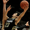 Colorado's Sabatino Chen lays up a shot against Stanford during the second half of an NCAA college basketball game Wednesday, Feb. 27, 2013, in Stanford, Calif. (AP Photo/Ben Margot)