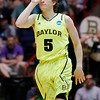 NCAA Colorado Baylor Ba(8).JPG Baylor guard Brady Heslip (5) gestures after hitting a three-point basket during the first half of an NCAA tournament third-round college basketball game against Colorado, Saturday, March 17, 2012, in Albuquerque, N.M. Baylor won 80-63. (AP Photo/Matt York)