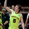 NCAA Colorado Baylor Ba(10).JPG Baylor guard Brady Heslip (5) acknowledges the crow after time expired during the second half of an NCAA tournament third-round college basketball game against Colorado, Saturday, March 17, 2012, in Albuquerque, N.M. Baylor won 80-63. (AP Photo/Jake Schoellkopf)