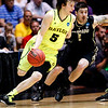 NCAA Colorado Baylor Ba(5).JPG Baylor guard Brady Heslip (5) drives agaisnt Colorado guard Nate Tomlinson during the second half of an NCAA tournament third-round college basketball game on Saturday, March 17, 2012, in Albuquerque, N.M. Baylor won 80-63. (AP Photo/Matt York)