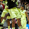 NCAA Colorado Baylor Ba(12).JPG Baylor forward Deuce Bello (14) celebrates after time expired during the second half of an NCAA tournament third-round college basketball game on Saturday, March 17, 2012, in Albuquerque, N.M. Baylor won 80-63. (AP Photo/Jake Schoellkopf)