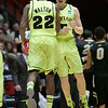 NCAA Colorado Baylor Ba(6).JPG Baylor guard Brady Heslip celebrates with teamamte A.J. Walton (22) during the second half of an NCAA tournament third-round college basketball game against Colorado, Saturday, March 17, 2012, in Albuquerque, N.M. Baylor won 80-63. (AP Photo/Jake Schoellkopf)
