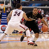 P12 Colorado Arizona Basket.JPG Colorado's Carlon Brown, right, is defended by Arizona's Brendon Lavender during the second half of an NCAA college basketball game in the finals of the Pac-12 conference championship in Los Angeles, Saturday, March 10, 2012. Colorado won 53-51. (AP Photo/Jae C. Hong)
