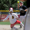 """Carlie Sexton, right, of the Stars, turns a double play, with Riley Simms of the Desperados making the out.<br /> For more photos of the game, go to  <a href=""""http://www.dailycamera.com"""">http://www.dailycamera.com</a>. or  <a href=""""http://www.timescall.com"""">http://www.timescall.com</a>.<br /> Cliff Grassmick / June 17, 2012"""