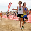 """Niwot High School junior Nick Harris finishes in 13th place during the mens Class 4A Colorado X-Country State Championship on Saturday, Oct. 30, at the Arapahoe County Fairgrounds in Aurora.<br /> For more photos go to  <a href=""""http://www.dailycamera.com"""">http://www.dailycamera.com</a><br /> Jeremy Papasso/ Camera"""