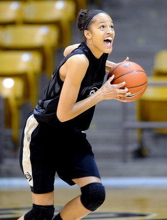"""Arielle Roberson at the CU media day practice on October 18, 2012.<br /> For more photos and videos of media day, go to  <a href=""""http://www.dailycamera.com"""">http://www.dailycamera.com</a>.<br /> Cliff Grassmick  / October 18, 2012"""