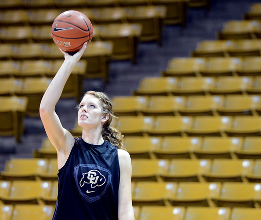 "Rachel Hargis at the CU media day practice on October 18, 2012.<br /> For more photos and videos of media day, go to  <a href=""http://www.dailycamera.com"">http://www.dailycamera.com</a>.<br /> Cliff Grassmick  / October 18, 2012"