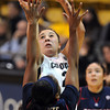 "Jasmine Sborov of CU shoots over Davellyn Whyte of Arizona<br /> during the second half of the February 9, 2012 game in Boulder.<br /> For more photos of the game, go to  <a href=""http://www.dailycamera.com"">http://www.dailycamera.com</a>.<br /> February 9, 2012 / Cliff Grassmick"