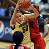 "Jamee Swan of Colorado, gets a rebound from Alli Gloyd of Arizona during the first half of the January 20th, 2013 game in Boulder.<br /> For more photos of the game, go to  <a href=""http://www.dailycamera.com"">http://www.dailycamera.com</a>.<br /> Cliff Grassmick / January 20, 2013"