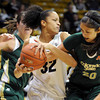 "Arielle Roberson of CU battles for a rebound with Kara Spotton of CSU.<br /> For more photos from CU CSU basketball, go to  <a href=""http://www.dailycamera.com"">http://www.dailycamera.com</a>.<br /> Cliff Grassmick / December 5, 2012"