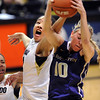 "Jamee Swan, left, of CU, tries to reach in for a rebound with Kristi Kingma of Washington.<br /> For more photos of the game, go to  <a href=""http://www.dailycamera.com"">http://www.dailycamera.com</a>.<br /> Cliff Grassmick / February 24, 2013"