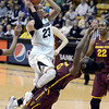 "University of Colorado's Chucky Jeffery draws a foul from Promise Amukamara while going for a shot during a game against Arizona State University on Friday, Jan. 18, at the Coors Event Center on the CU campus in Boulder. For more photos of the game go to  <a href=""http://www.dailycamera.com"">http://www.dailycamera.com</a><br /> Jeremy Papasso/ Camera"