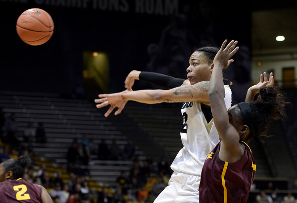 "University of Colorado's Chuckey Jeffery passes the ball during a game against Arizona State University on Friday, Jan. 18, at the Coors Event Center on the CU campus in Boulder. For more photos of the game go to  <a href=""http://www.dailycamera.com"">http://www.dailycamera.com</a><br /> Jeremy Papasso/ Camera"