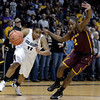 "University of Colorado's Brittany Wilson dribbles past Micaela Pickens during a game against Arizona State University on Friday, Jan. 18, at the Coors Event Center on the CU campus in Boulder. For more photos of the game go to  <a href=""http://www.dailycamera.com"">http://www.dailycamera.com</a><br /> Jeremy Papasso/ Camera"