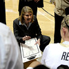 "University of Colorado Head Coach Linda Lappe talks with the Buffs during a time-out in a basketball game against the University of California on Thursday, Jan. 12, at the Coors Event Center on the CU campus in Boulder. California won the game 68-55. For more photos of the game go to  <a href=""http://www.dailycamera.com"">http://www.dailycamera.com</a><br /> Jeremy Papasso/ Camera"