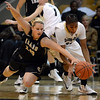 "Brittany Wilson, right, of Colorado tries to get a steal from Stacy Barr of Idaho during the first half of the November 11,  2012 game in Boulder.<br /> For more photos of the CU women, go to  <a href=""http://www.dailycamera.com"">http://www.dailycamera.com</a><br /> Cliff Grassmick / November 11, 2012"