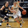 "Lexy Kresl of CU drives on Connie Ballesteros of Idaho during the first half of the November 11,  2012 game in Boulder.<br /> For more photos of the CU women, go to  <a href=""http://www.dailycamera.com"">http://www.dailycamera.com</a><br /> Cliff Grassmick / November 11, 2012"