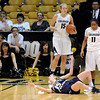 "University of Colorado's Brittany Wilson, No. 11, and Julie Seabrook, No. 15, give the referee a look as Northern Colorado's Victoria Timm, No. 15, argues a call during the first round of the 2012 Women's NIT tournament on Wednesday, March 14, at the Coors Event Center on the CU campus in Boulder. For more photos and video of the game go to  <a href=""http://www.dailycamera.com"">http://www.dailycamera.com</a><br /> Jeremy Papasso/ Camera"
