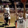 "University of Colorado's Arielle Roberson takes a shot during a game against Oregon State on Friday, Feb. 8, at the Coors Event Center on the CU campus in Boulder. For more photos of the game go to  <a href=""http://www.dailycamera.com"">http://www.dailycamera.com</a><br /> Jeremy Papasso/ Camera"