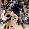 "Courtney Clements, top left, and Erimma Amarikwa, both of San Diego State, collapse on Rachel Hargis, of Colorado, while trying to get a rebound during the first half of the 26th Annual Omni Hotels Classic in Boulder, Colorado, on November 24, 2012.<br /> For more photos of the game, go to  <a href=""http://www.dailycamera.com"">http://www.dailycamera.com</a>.<br /> Cliff Grassmick / November 24, 2012"