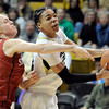 "University of Colorado's Chucky Jeffery goes for a layup in front of Taylor Greenfield during a game against Stanford on Friday, Jan. 4, at the Coors Event Center on the CU campus in Boulder. For more photos of the game go to  <a href=""http://www.dailycamera.com"">http://www.dailycamera.com</a><br /> Jeremy Papasso/ Camera"