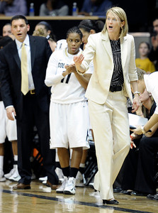 University of Colorado Head Coach Linda Lappe yells to her team during a game against Stanford on Friday, Jan. 4, at the Coors Event Center on the CU campus in Boulder. For more photos of the game go to www.dailycamera.com Jeremy Papasso/ Camera