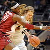 "Nnemkadi Ogwumike of Stanford  tries to contain Rachel Hargis of CU.<br /> For more photos of the game, go to  <a href=""http://www.dailycamera.com"">http://www.dailycamera.com</a>.<br /> January 14, 2012 / Cliff Grassmick"