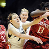 "Lexy Kresl of CU tries to get the ball from Chiney Ogwumike of Stanford.<br /> For more photos of the game, go to  <a href=""http://www.dailycamera.com"">http://www.dailycamera.com</a>.<br /> January 14, 2012 / Cliff Grassmick"