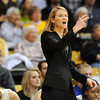 "Linda Lappe talks to the players  during the first half of the January 29, 2012 game in Boulder. <br /> For more photos of the game, go to  <a href=""http://www.dailycamera.com"">http://www.dailycamera.com</a>.<br /> January 29, 2012 / Cliff Grassmick"