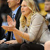 """Former Buff, Jenny (Roulier) Huth, is an assistant coach for UCLA.<br /> For more photos of the game, go to  <a href=""""http://www.dailycamera.com"""">http://www.dailycamera.com</a>.<br /> January 29, 2012 / Cliff Grassmick"""