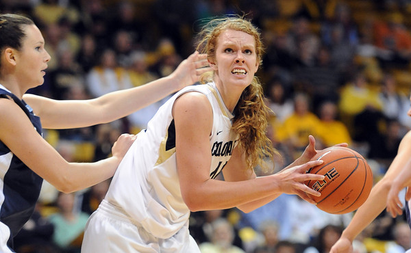 "Rachel Hargis of CU prepares to shoot against Villanova<br /> during the first half of the March 22, 2012 game in Boulder. <br /> For more photos of the game, go to  <a href=""http://www.dailycamera.com"">http://www.dailycamera.com</a>.<br />  Cliff Grassmick / March 22, 2012"