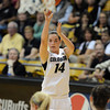 "Meagan Malcolm-Peck  shoots in the CU Villanova game.<br /> For more photos of the game, go to  <a href=""http://www.dailycamera.com"">http://www.dailycamera.com</a>.<br />  Cliff Grassmick / March 22, 2012"