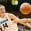 "Meagan Malcolm-Peck of Colorado battles with Jordan Pfau of Weber State.<br /> For more photos of the game, go to  <a href=""http://www.dailycamera.com"">http://www.dailycamera.com</a>.<br /> December 17, 2011 / Cliff Grassmick"
