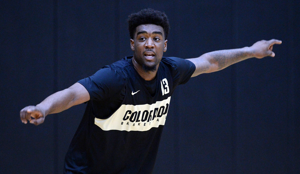 . BOULDER, CO: University of Colorado\'s  Namon Wright during the first practice for the CU men\'s team on October 2, 2018. ((Photo by Cliff Grassmick/Staff Photographer)
