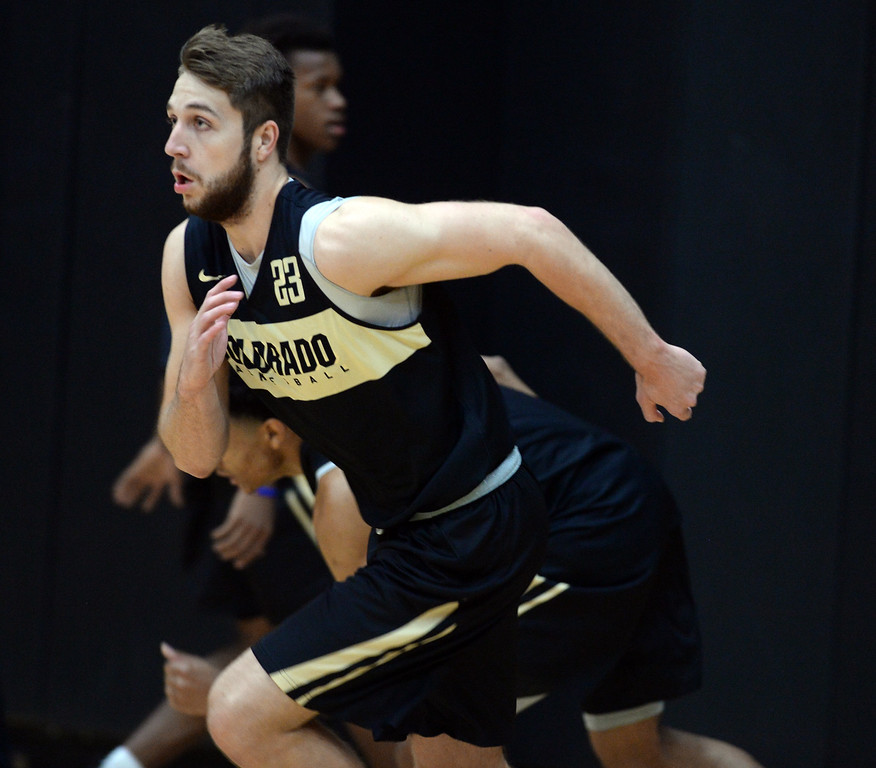 . BOULDER, CO: University of Colorado\'s  Lucas Siewart  during the first practice for the CU men\'s team on October 2, 2018. ((Photo by Cliff Grassmick/Staff Photographer)