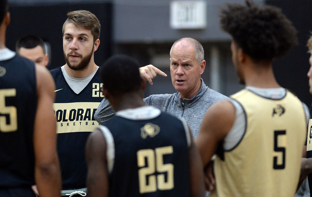 . BOULDER, CO: University of Colorado\'s   during the first practice for the CU men\'s team on October 2, 2018. ((Photo by Cliff Grassmick/Staff Photographer)
