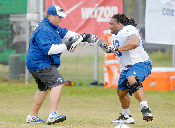 Don Knight | The Herald Bulletin Colts Camp practice Wednesday at AU.