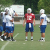 Andrew Luck with teammates at Colts training camp