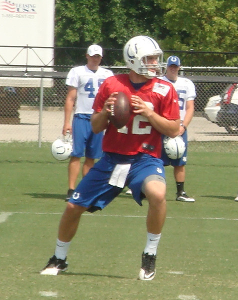 Andrew Luck in Colts training camp