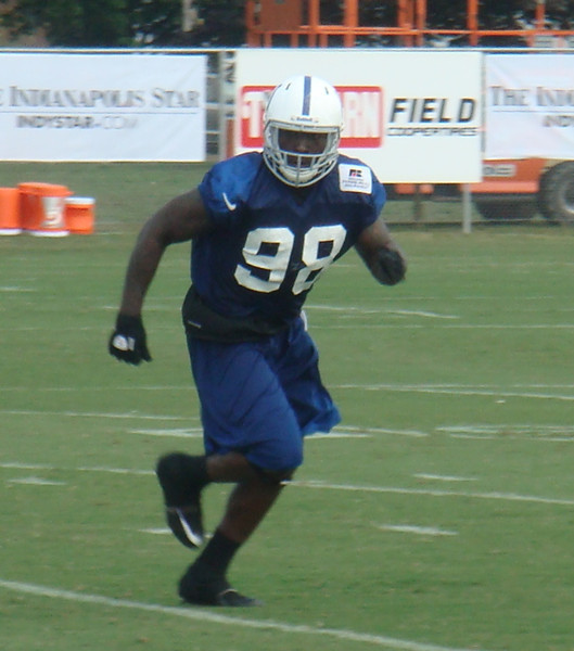 Robert Mathis in Colts training camp