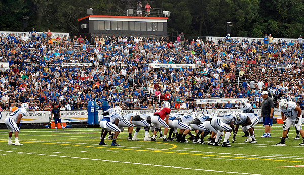 The Colts held their only evening practice of training camp in front of a packed grandstand in Macholtz Stadium Tuesday.