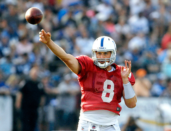 Colts quarterback Matt Hasselbeck.