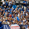 A large crowd was on hand for the Colts Sunday afternoon practice.
