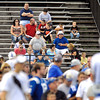 These Colts fans had to sit in the main stands of Macholtz Stadium to get a glimpse of the Colts practice since the crowd was so large all the beachers around the practice field was packed with standing room only every where else Sunday.