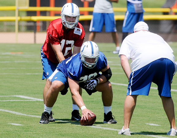 Don Knight   The Herald Bulletin<br /> First day of Colts Camp at AU on Wednesday.