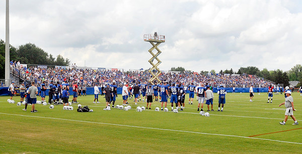 John P. Cleary | The Herald Bulletin<br /> A large crowd was present for the Colts only Sunday practice of training camp.