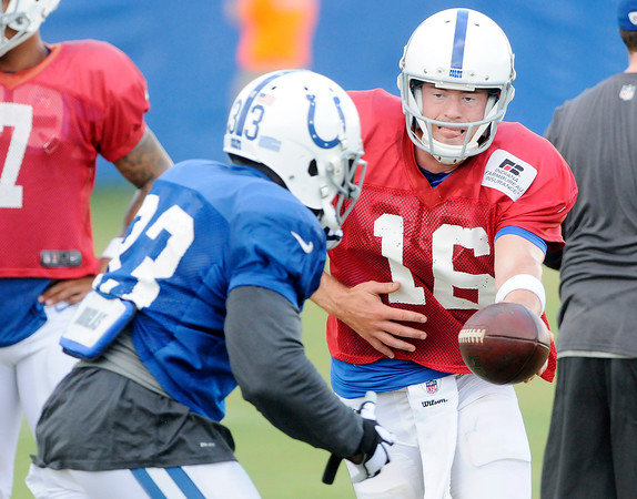 Don Knight | The Herald Bulletin<br /> Colts Camp practice at AU on Wednesday.